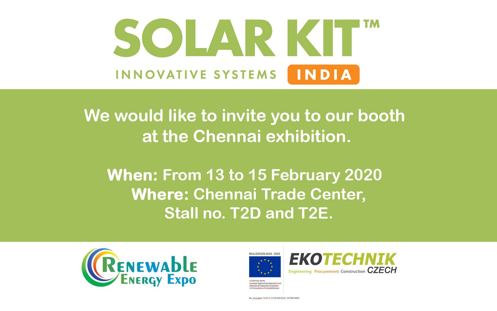 Invitation to exhibition Renewable Energy Expo 13 - 15 Feb 2020 - Chennai